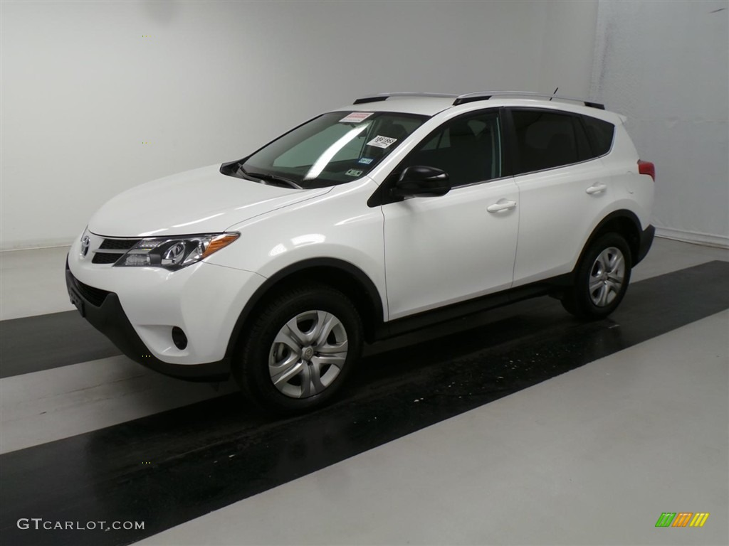 2014 super white toyota rav4 le 112229288. Black Bedroom Furniture Sets. Home Design Ideas