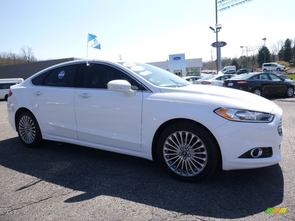 2013 Fusion Titanium - Oxford White / Charcoal Black photo #1