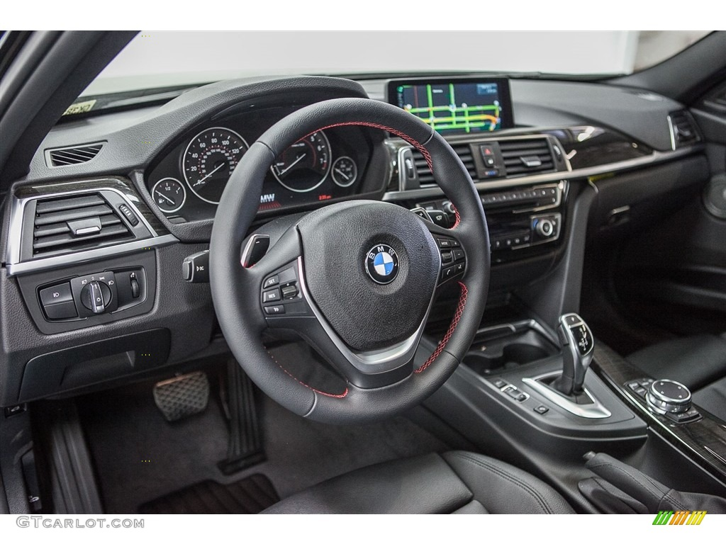 Black Interior 2016 Bmw 3 Series 340i Sedan Photo 112322343