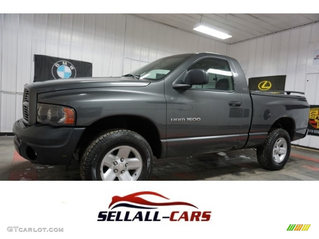 2002 Ram 1500 SLT Regular Cab 4x4 - Graphite Metallic / Dark Slate Gray photo #1