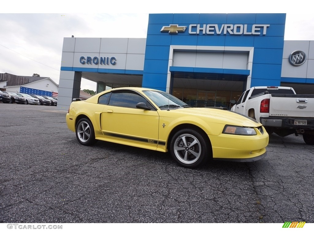 Zinc Yellow Ford Mustang