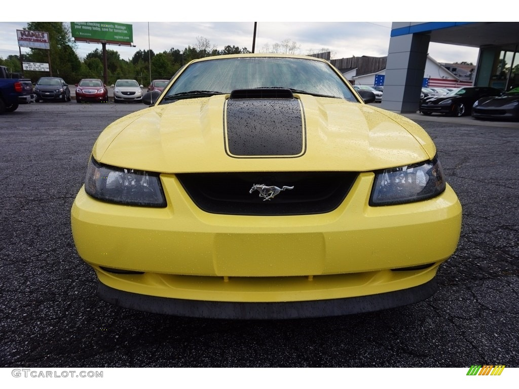 2003 Mustang Mach 1 Coupe - Zinc Yellow / Dark Charcoal photo #2
