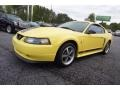 2003 Zinc Yellow Ford Mustang Mach 1 Coupe  photo #3