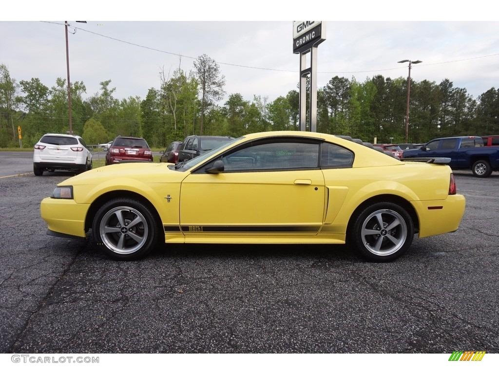 2003 Mustang Mach 1 Coupe - Zinc Yellow / Dark Charcoal photo #4
