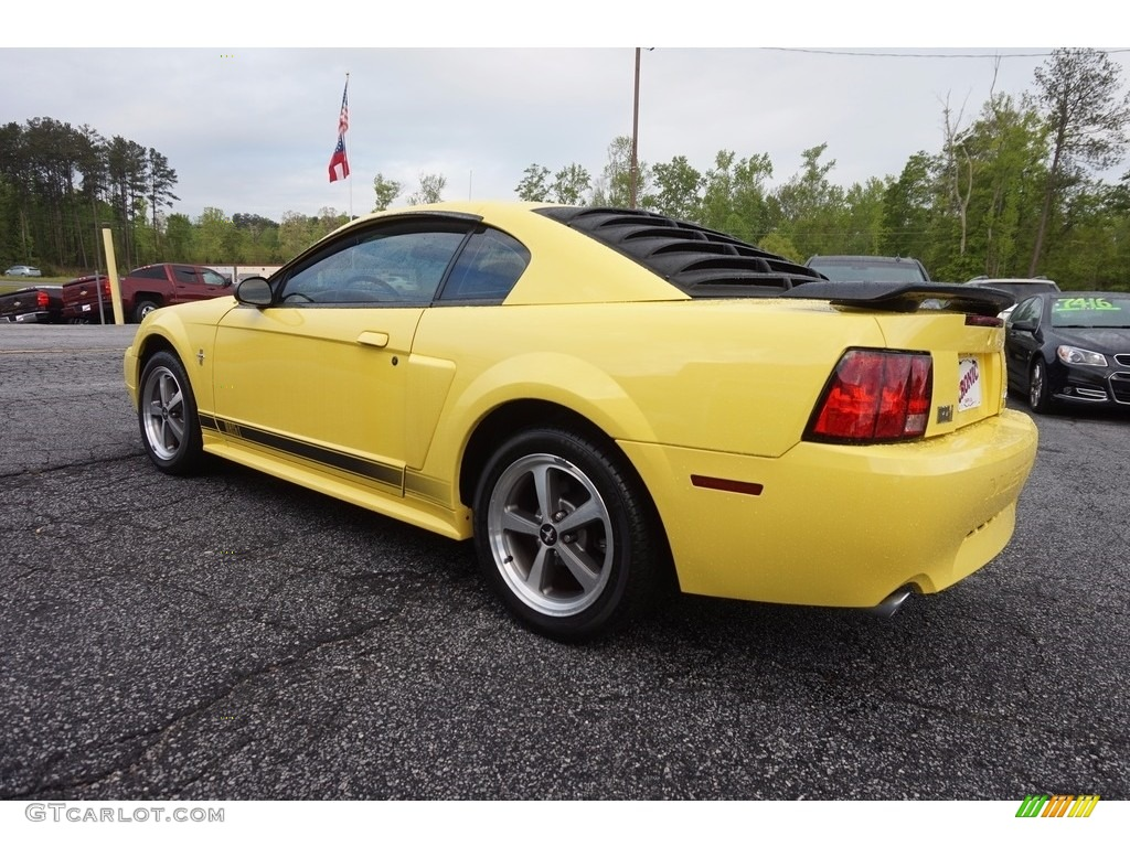 2003 Mustang Mach 1 Coupe - Zinc Yellow / Dark Charcoal photo #5