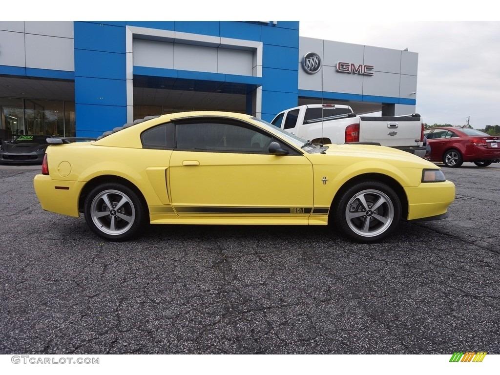 2003 Mustang Mach 1 Coupe - Zinc Yellow / Dark Charcoal photo #8