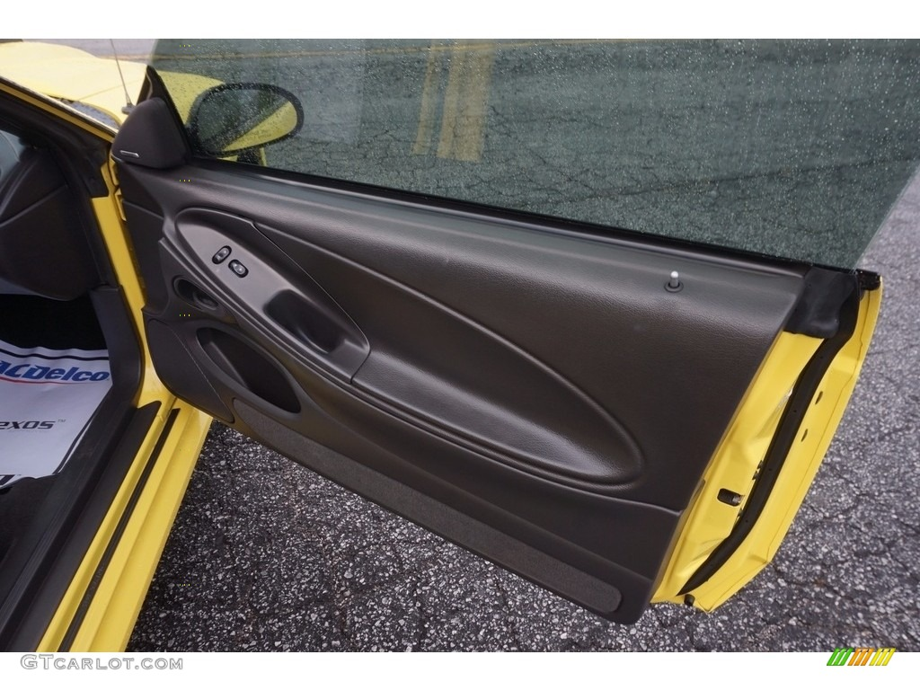 2003 Mustang Mach 1 Coupe - Zinc Yellow / Dark Charcoal photo #16