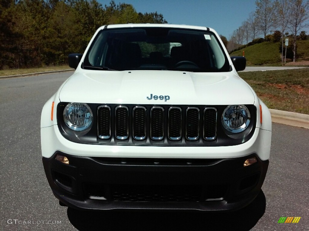 2016 Renegade Sport 4x4 - Alpine White / Black photo #3