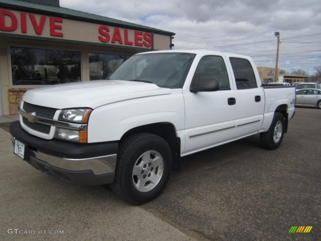 2004 summit white chevrolet silverado 1500 ls crew cab 4x4 112416189 car color. Black Bedroom Furniture Sets. Home Design Ideas