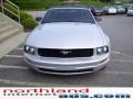2007 Satin Silver Metallic Ford Mustang V6 Deluxe Convertible  photo #6
