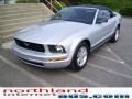 2007 Satin Silver Metallic Ford Mustang V6 Deluxe Convertible  photo #7