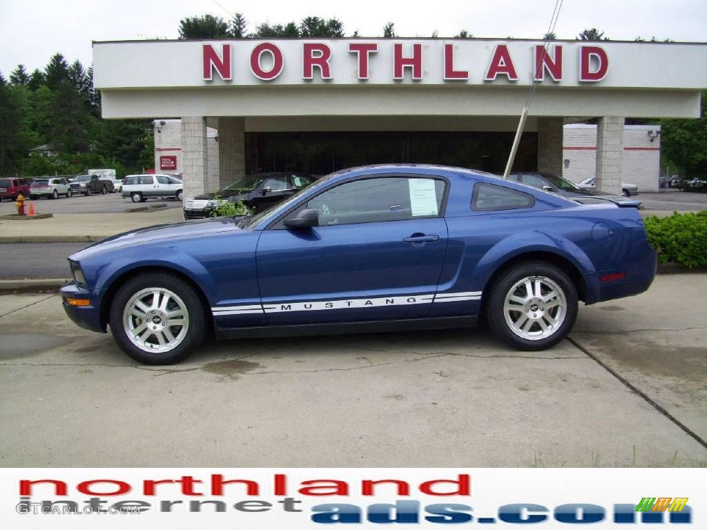 2007 Mustang V6 Deluxe Coupe - Vista Blue Metallic / Dark Charcoal photo #1