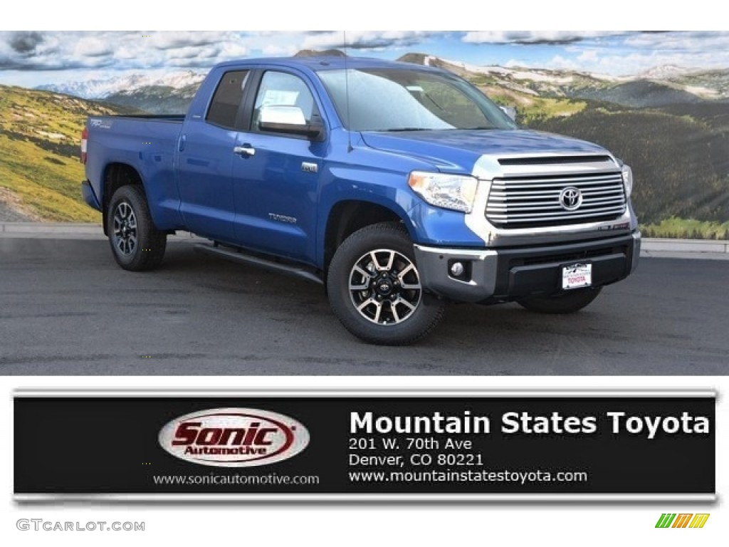 2016 Tundra Limited Double Cab 4x4 - Blazing Blue Pearl / Black photo #1