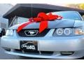2000 Silver Metallic Ford Mustang V6 Convertible  photo #13