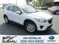 2013 Crystal White Pearl Mica Mazda CX-5 Sport AWD #112523357