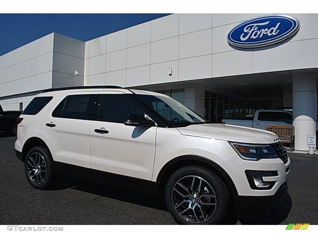 2016 white platinum metallic tri coat ford explorer sport 4wd 112523301 car. Black Bedroom Furniture Sets. Home Design Ideas