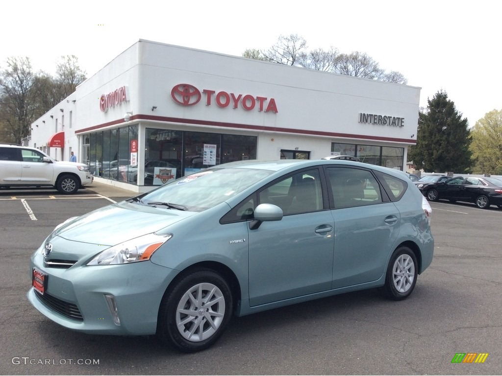 2013 sea glass pearl toyota prius v five hybrid 112551039 car color galleries. Black Bedroom Furniture Sets. Home Design Ideas