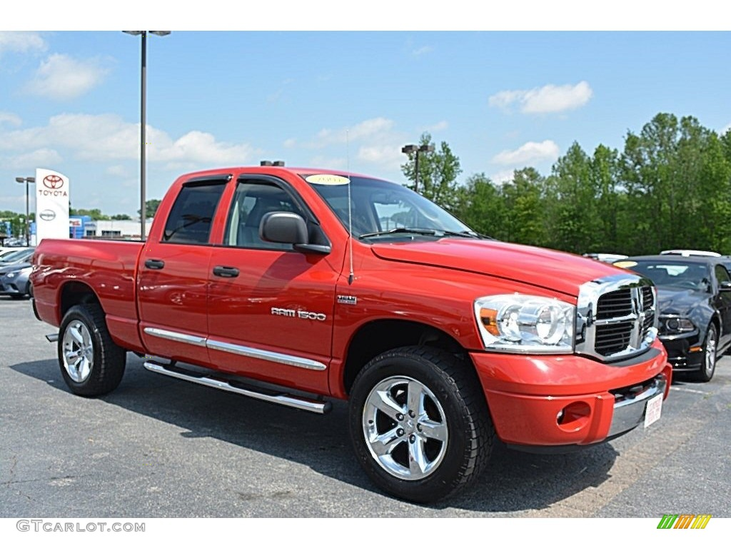 2007 inferno red crystal pearl dodge ram 1500 laramie quad cab 4x4 112608850 photo 9. Black Bedroom Furniture Sets. Home Design Ideas
