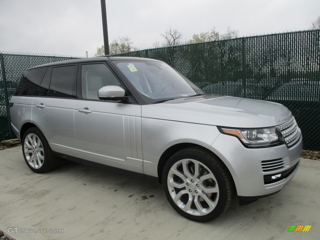 2016 Range Rover Supercharged - Indus Silver Metallic / Ebony/Cirrus photo #1