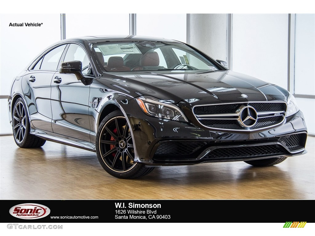 2016 obsidian black metallic mercedes benz cls amg 63 s 4matic coupe 112800844. Black Bedroom Furniture Sets. Home Design Ideas