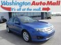2011 Blue Flame Metallic Ford Fusion SE #112800836