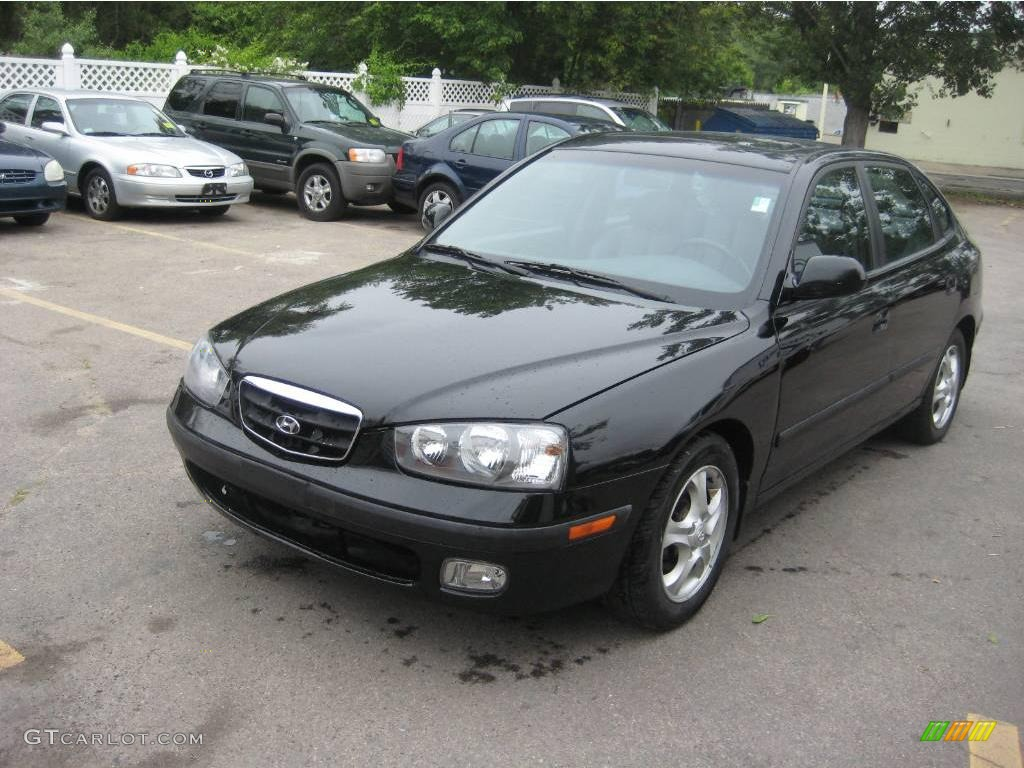 2003 black obsidian hyundai elantra gt hatchback 11268557. Black Bedroom Furniture Sets. Home Design Ideas