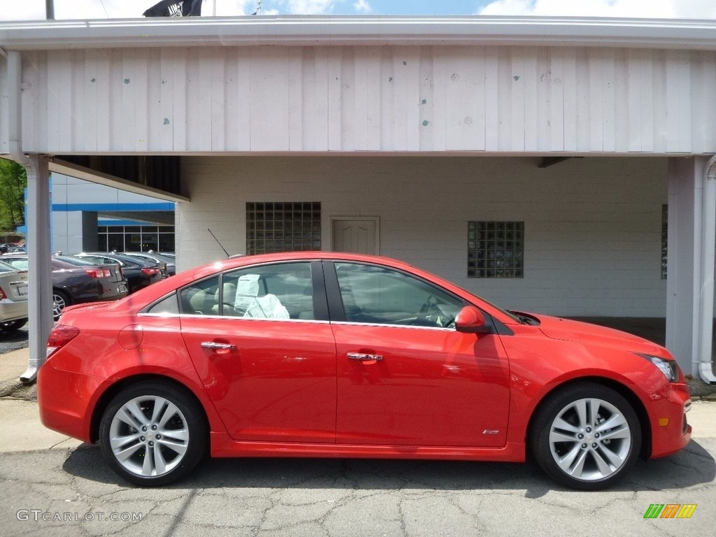 2016 Cruze Limited LTZ - Red Hot / Cocoa/Light Neutral photo #1