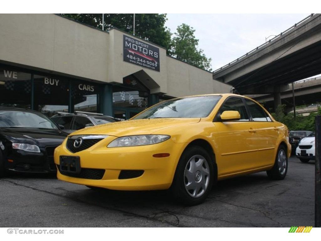 2003 speed yellow mazda mazda6 i sedan 112986234. Black Bedroom Furniture Sets. Home Design Ideas