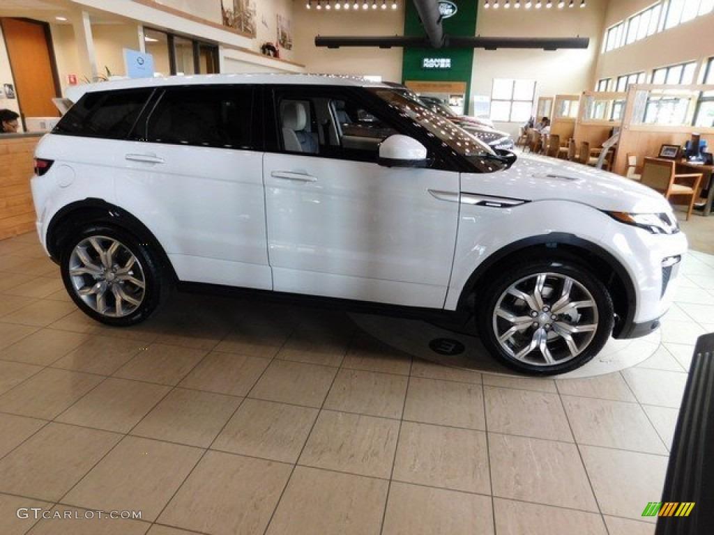 Fuji White Land Rover Range Evoque