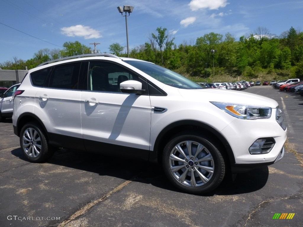 2017 white platinum ford escape titanium 4wd 113007636 car color galleries. Black Bedroom Furniture Sets. Home Design Ideas