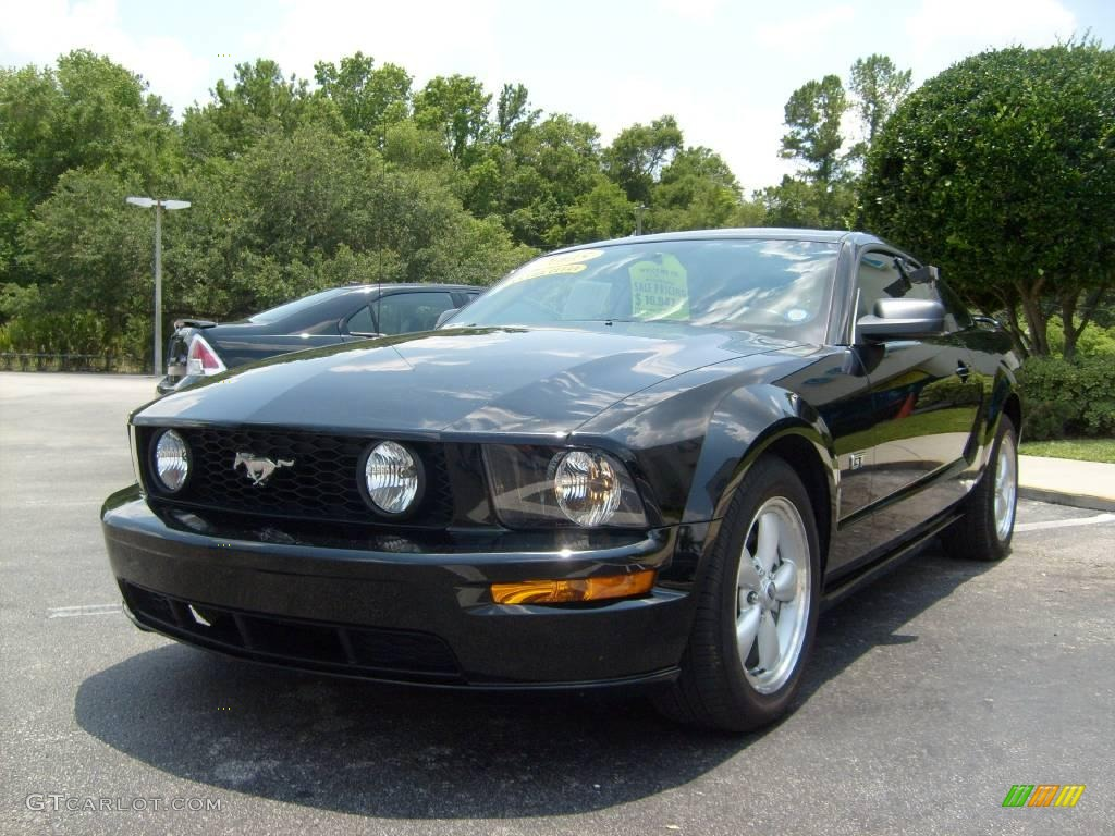 2005 black ford mustang gt premium coupe 11257053 photo. Black Bedroom Furniture Sets. Home Design Ideas