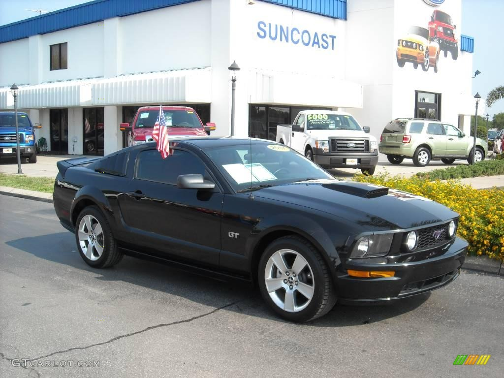 2007 Mustang GT Premium Coupe - Black / Black/Red photo #1