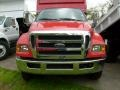 2008 Red Ford F650 Super Duty XLT Regular Cab Chassis Dump Truck  photo #6