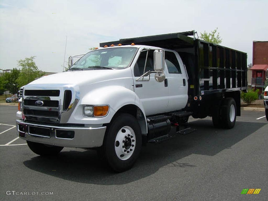 2008 Oxford White Ford F750 Super Duty XLT Chassis Crew ...