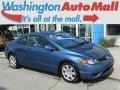 Atomic Blue Metallic 2008 Honda Civic LX Coupe