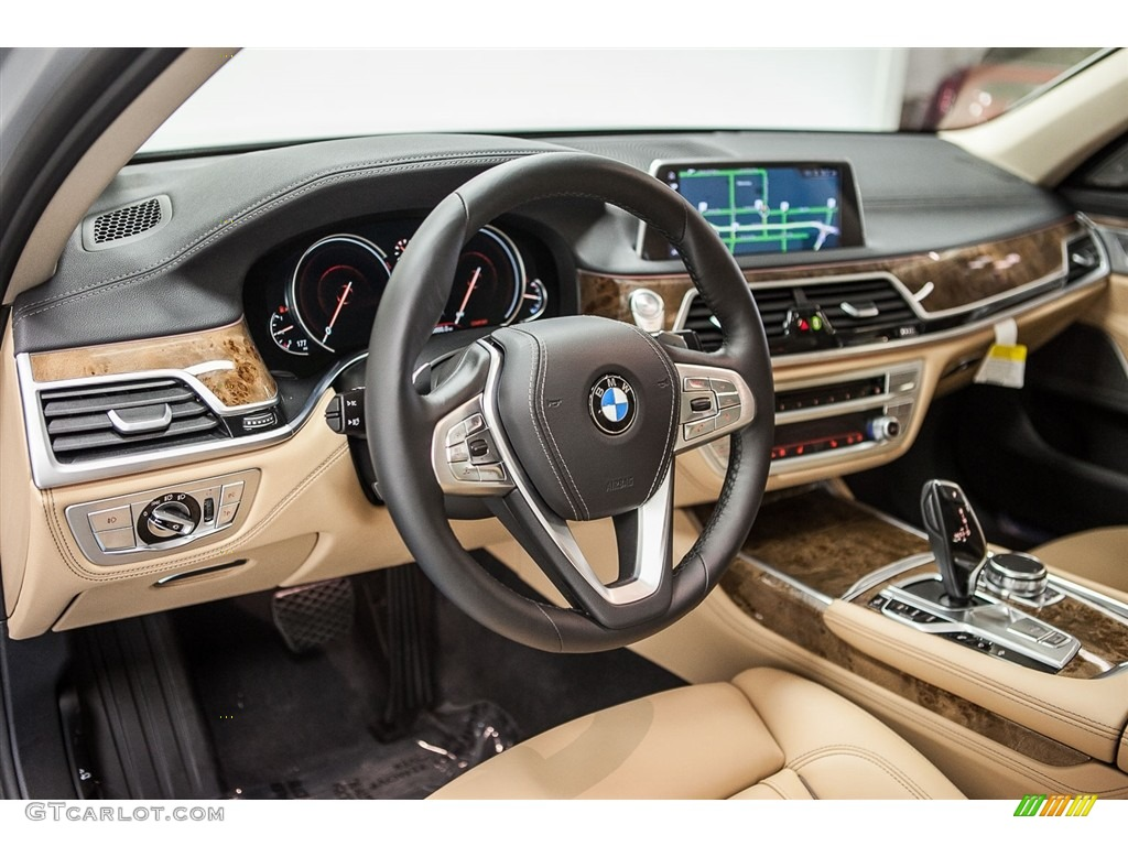 Zagora Beige Interior 2016 BMW 7 Series 750i Sedan Photo #113149076   GTCarLot.com