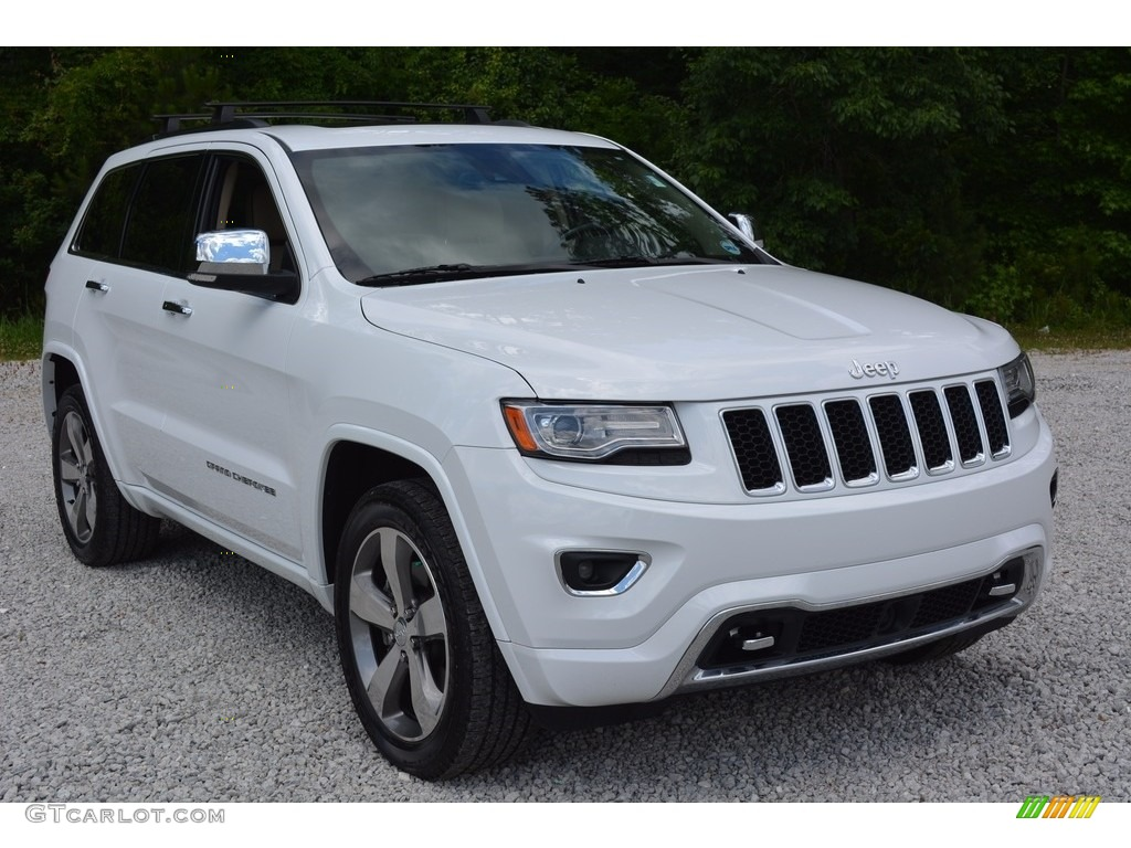 2014 bright white jeep grand cherokee overland 4x4 113172240 car color galleries. Black Bedroom Furniture Sets. Home Design Ideas