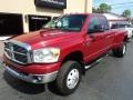 2008 Inferno Red Crystal Pearl Dodge Ram 3500 SLT Quad Cab 4x4 Dually  photo #2