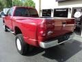 2008 Inferno Red Crystal Pearl Dodge Ram 3500 SLT Quad Cab 4x4 Dually  photo #3