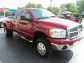 2008 Inferno Red Crystal Pearl Dodge Ram 3500 SLT Quad Cab 4x4 Dually  photo #5