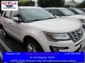 White Platinum Metallic Tri-Coat 2016 Ford Explorer Limited