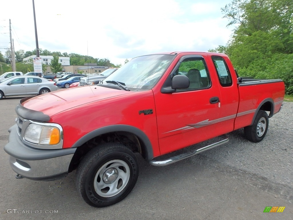 1997 bright red ford f150 xlt extended cab 4x4 113260651 car color galleries. Black Bedroom Furniture Sets. Home Design Ideas