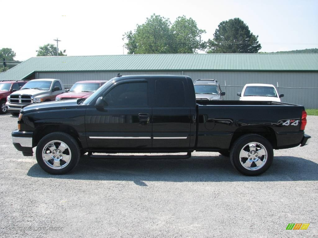 2006 black chevrolet silverado 1500 lt extended cab 4x4 11323058 car color. Black Bedroom Furniture Sets. Home Design Ideas