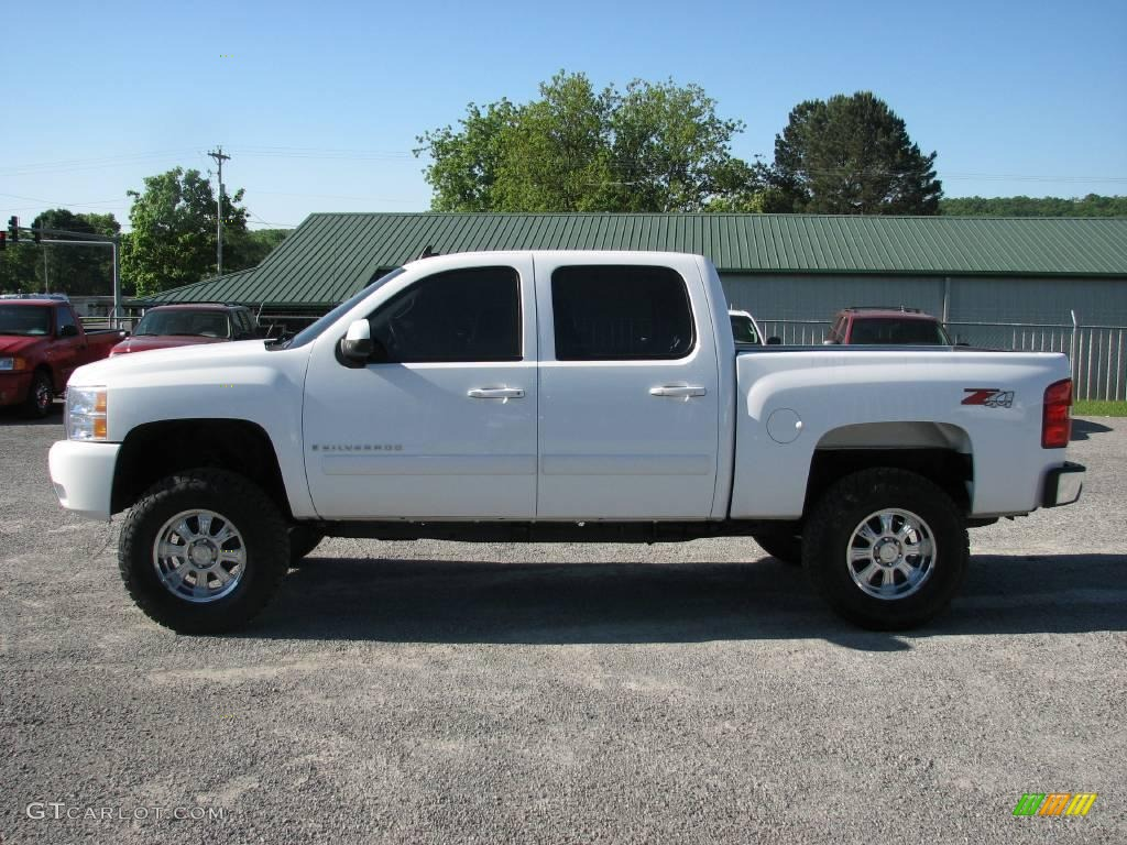 2008 silverado 1500 ltz crew cab 4x4 summit white light cashmere ebony accents