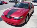 2001 Laser Red Metallic Ford Mustang V6 Coupe  photo #1