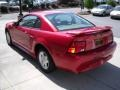 2001 Laser Red Metallic Ford Mustang V6 Coupe  photo #7