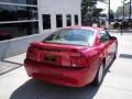 2001 Laser Red Metallic Ford Mustang V6 Coupe  photo #8