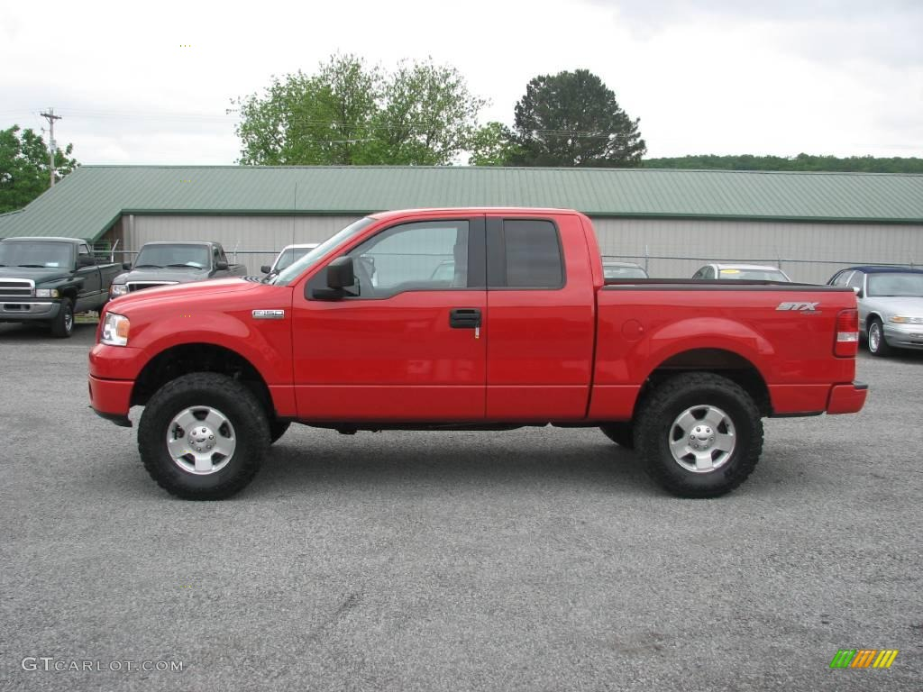 2006 bright red ford f150 stx supercab 4x4 11323037 car color galleries. Black Bedroom Furniture Sets. Home Design Ideas