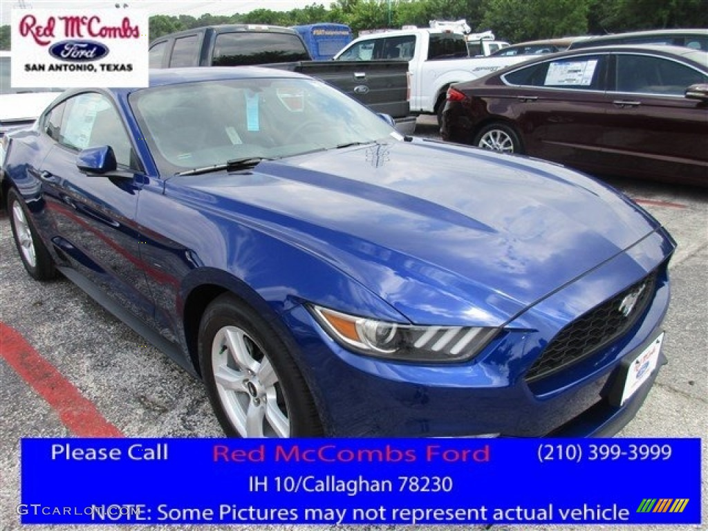 2016 Mustang V6 Coupe - Deep Impact Blue Metallic / Ebony photo #1
