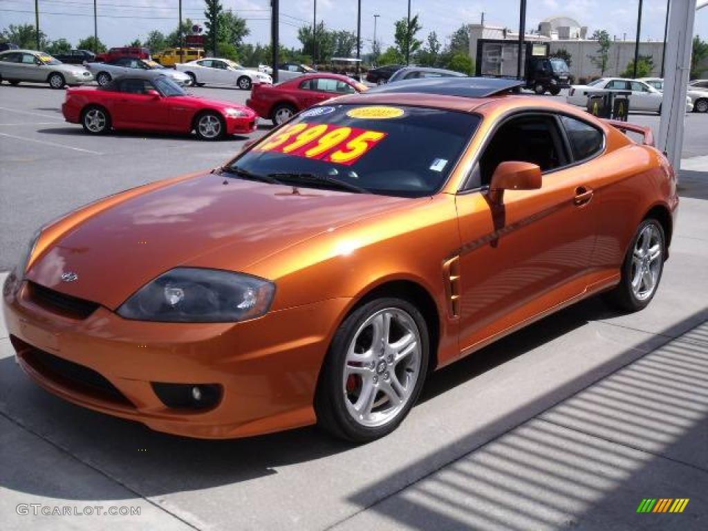 2006 Orange Crush Hyundai Tiburon SE #11327267 | GTCarLot.com - Car ...